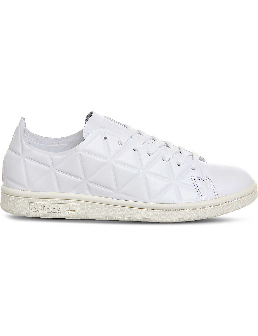 buy popular 4ace9 0004a ADIDAS Polygon pack stan smith geometric embossed leather trainers