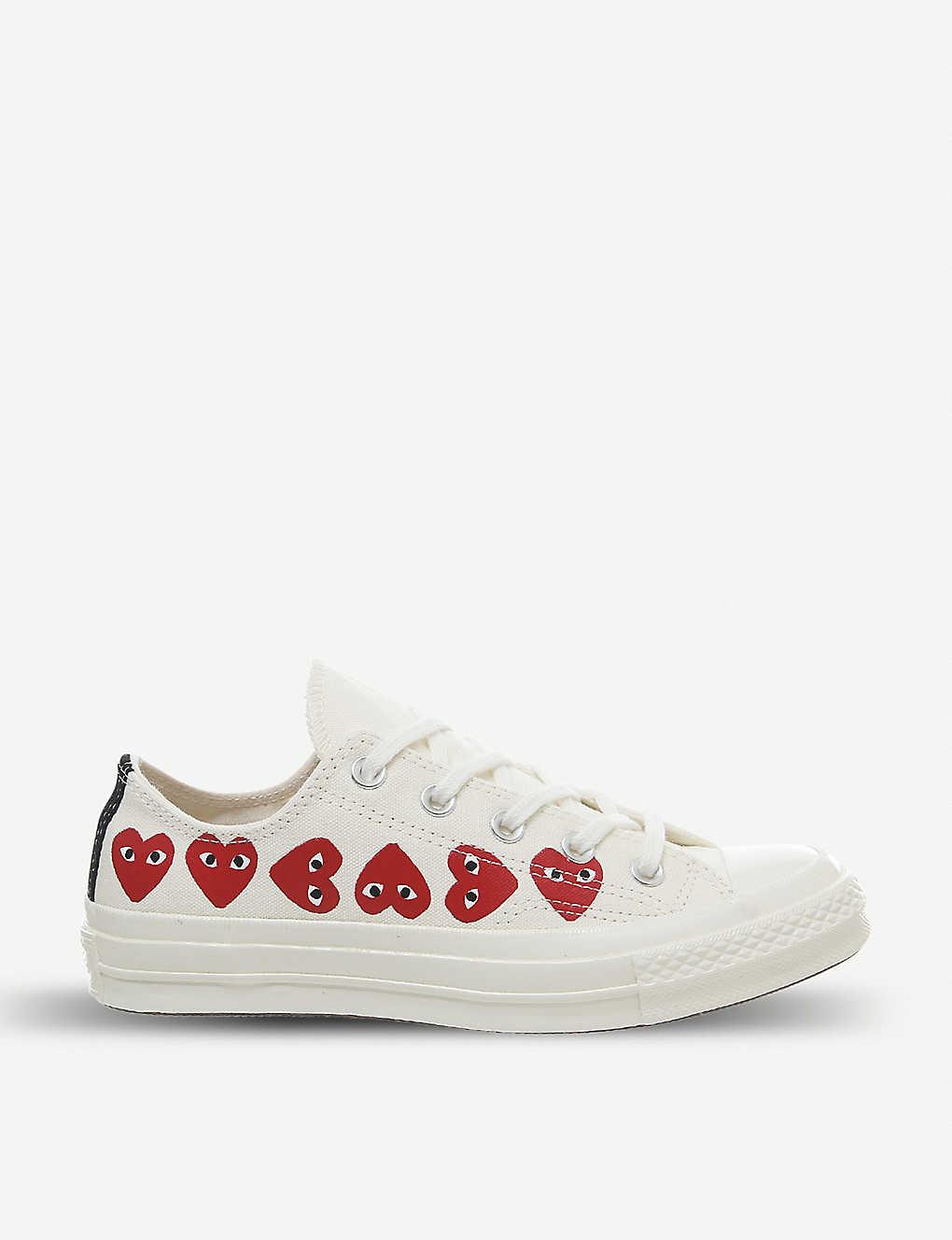 Comme des Garçons x Converse heart-print canvas trainers