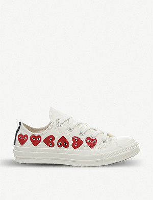 7fdaa6569530 COMME DES GARCONS - CDG X Nike Air Max 180 faux-leather and mesh ...