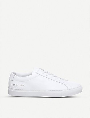 COMMON PROJECTS: Original Achilles leather low-top trainers