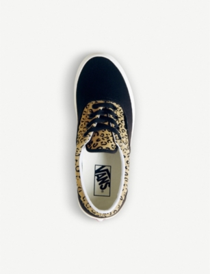 afc10304e29b Vans Era Leopard-Print Leather And Canvas Trainers In Leopard Black Taffy