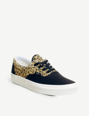 0c1d47a7853 Vans Era Leopard-Print Leather And Canvas Trainers In Leopard Black Taffy