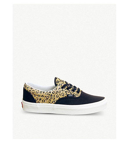 bdc164e01176 VANS Era leopard-print leather and canvas trainers (Leopard+black+taffy