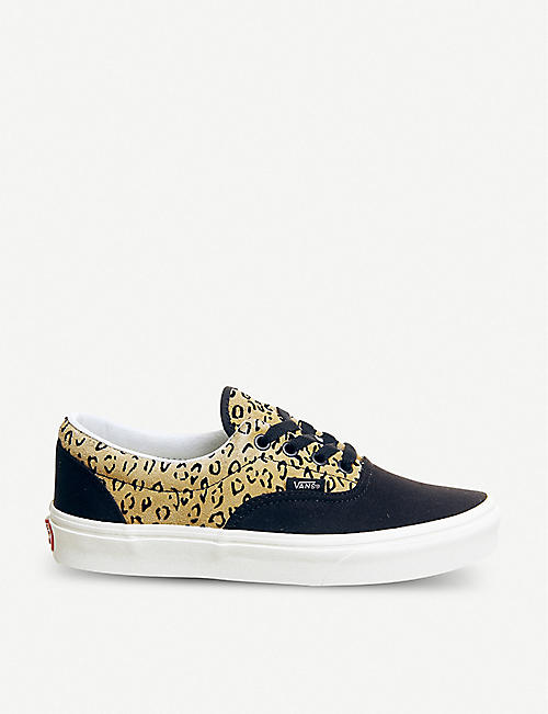 b52ffb650d2e VANS Era leopard-print leather and canvas trainers