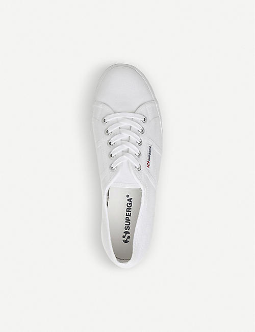 SUPERGA 2790 flatform canvas trainers