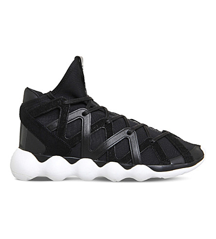 7d30fc058a211 ADIDAS Y3 Kyujo high-top neoprene trainers (Black+white+m