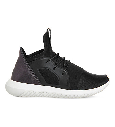 online retailer 6e079 0cf6a ADIDAS Tubular Defiant lace-up neoprene trainers (Core+black+white