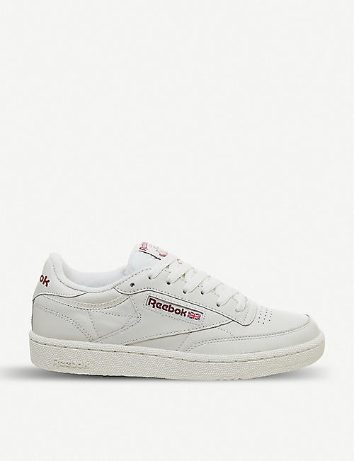 d6fb626f28a REEBOK Club C 85 nubuck leather trainers