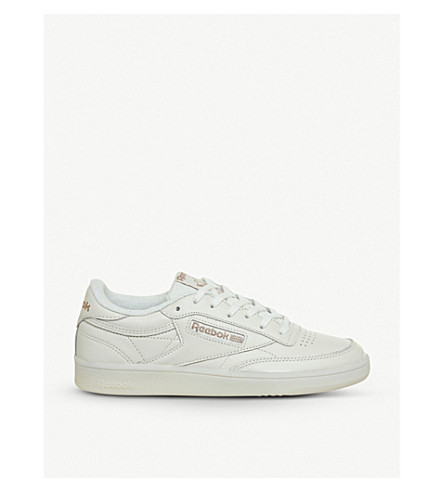 7e8be15a6f3a REEBOK Club C 85 leather low-top trainers (Chalk+rose+gold