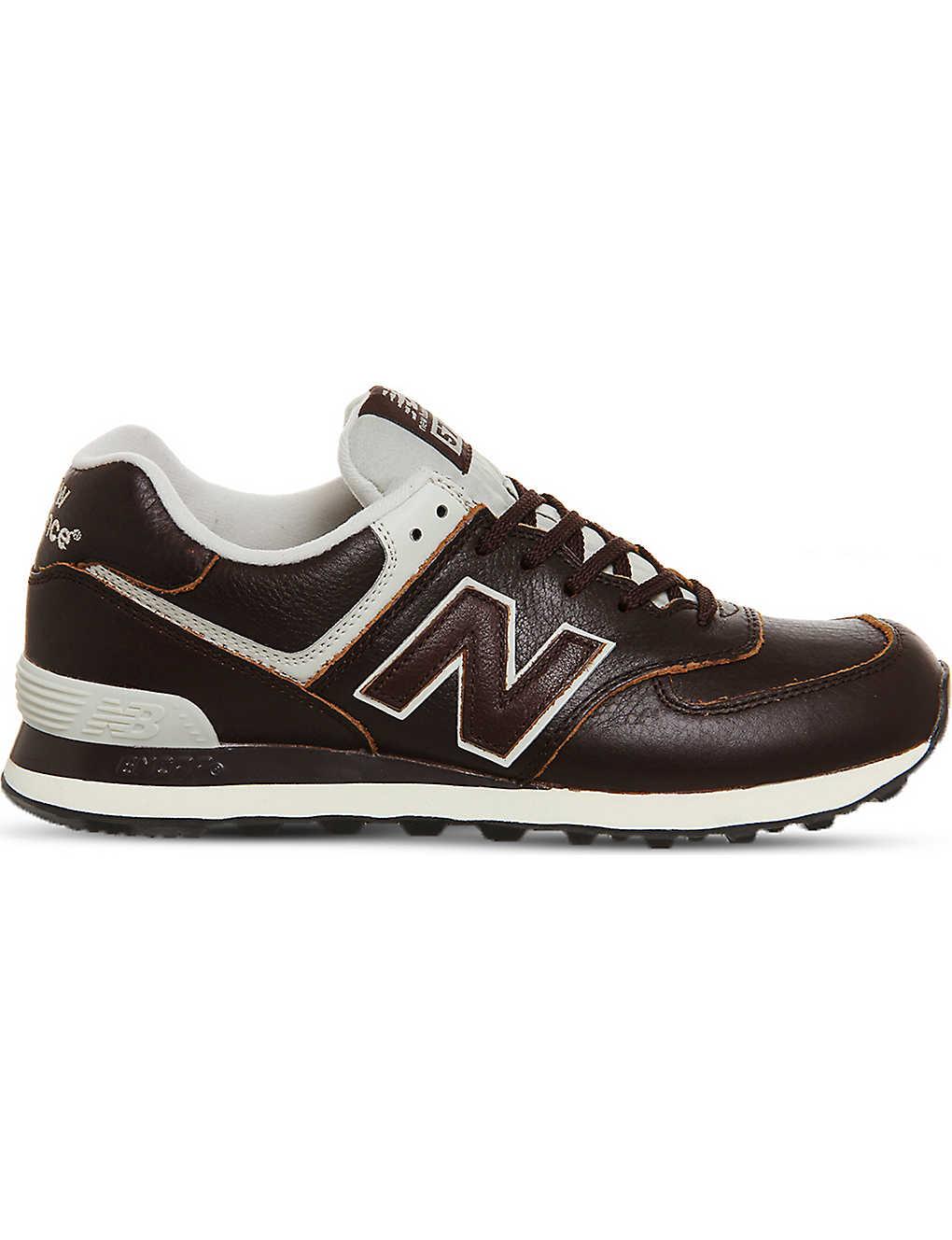 e94211e0332b6 NEW BALANCE - 574 lace-up leather trainers | Selfridges.com