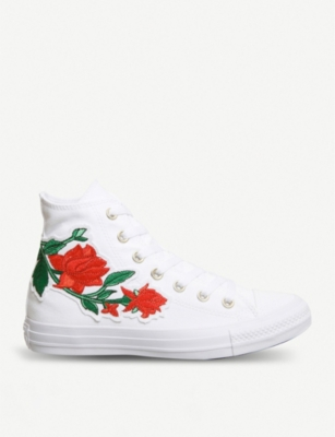 94236d59f8f84 CONVERSE - All Star embroidered high-top trainers
