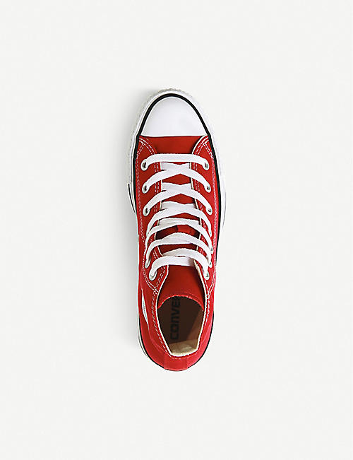 CONVERSE All Star red-canvas high-tops