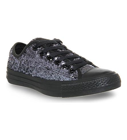 1a82e72cd43926 CONVERSE All star low-top sequin trainers (Black+mono+sequin