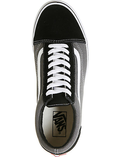 VANS Old Skool leather and canvas trainers