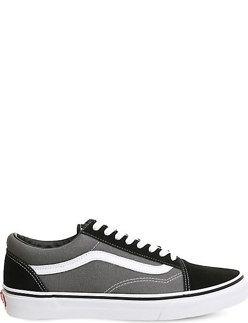 2d1c54c93ff8d5 VANS Old Skool leather and canvas trainers