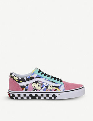 VANS Old Skool Mickey Mouse suede and canvas trainers d8d26ef6a