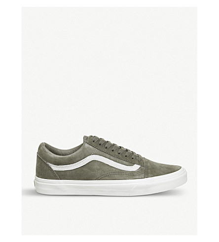 vans old skool trainers fallen rock blanc