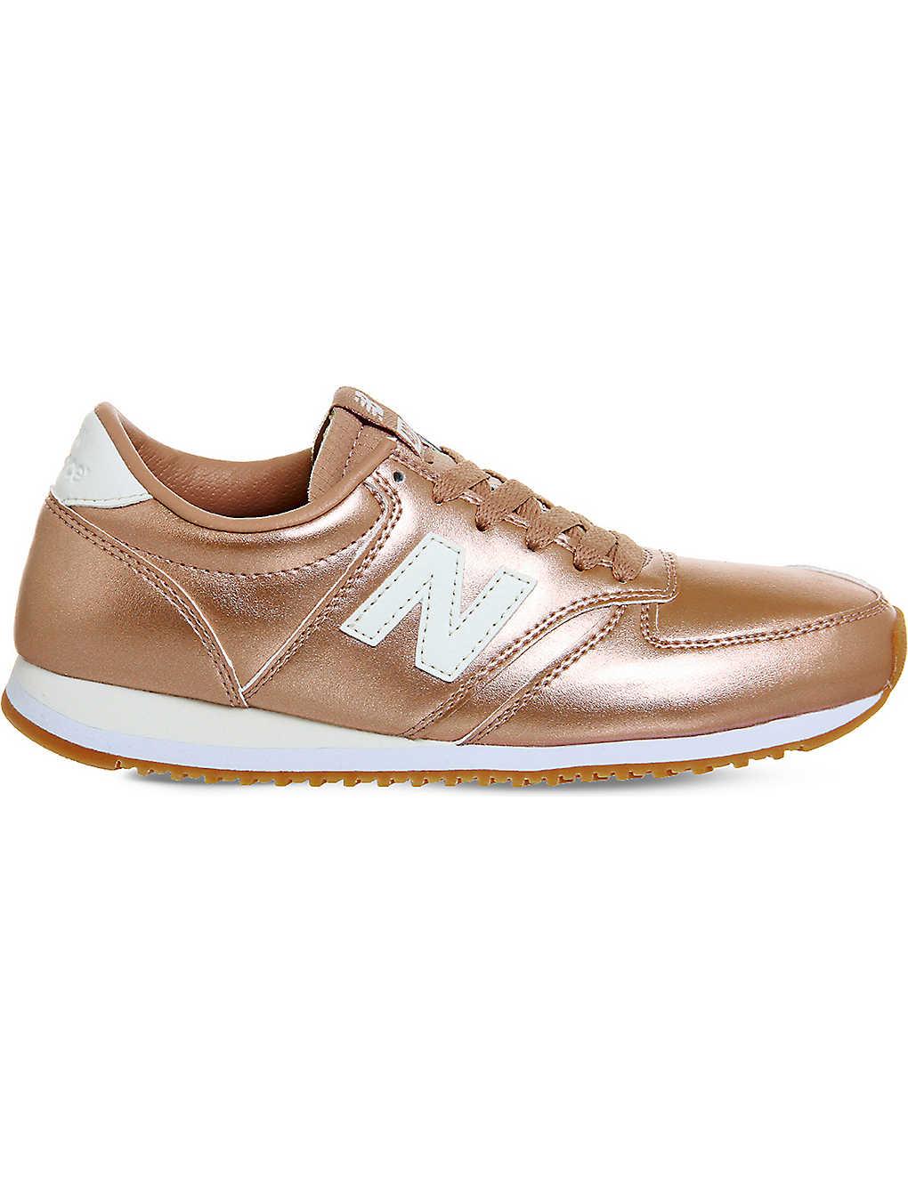 626ed577e1a5f NEW BALANCE - 420 metallic-leather trainers | Selfridges.com