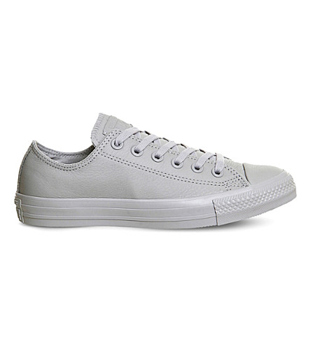 5c819423e0f6 CONVERSE Chuck taylor All Star low-top leather trainers (Grey+mono