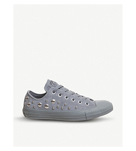 5d89b49a2f1cc4 CONVERSE - All Star studded suede low-top trainers