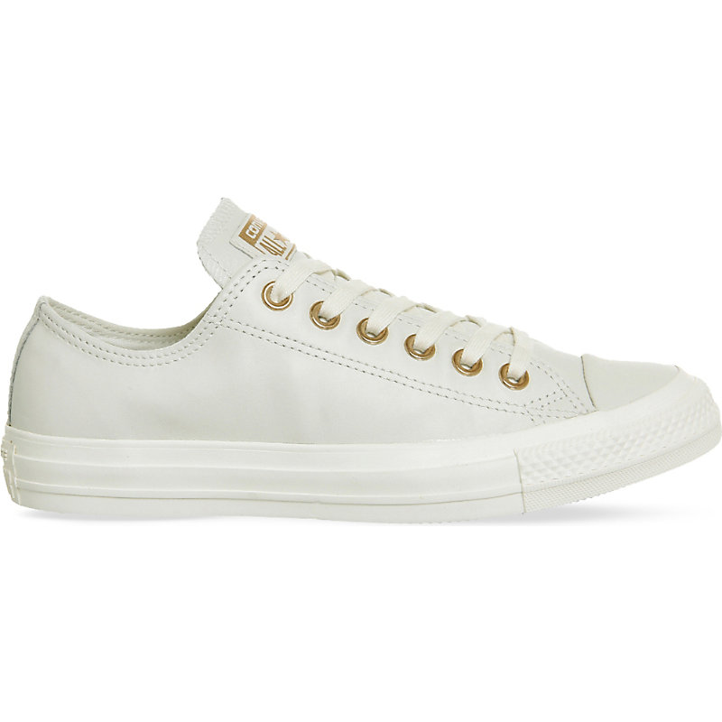 058cee8fd8f Converse All Star Low-Top Leather Trainers In Egret Rose Gold ...