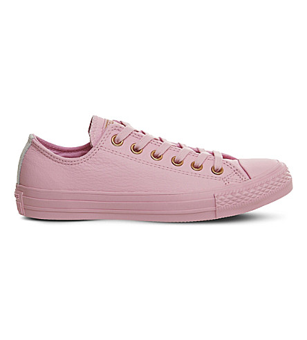 748fe5be7f48b CONVERSE Chuck taylor All Star low-top leather trainers (Lilac+mouse