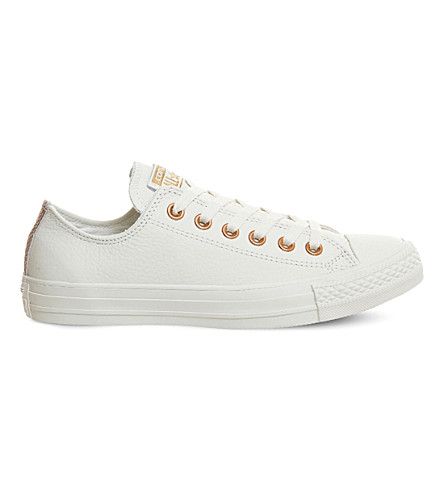 8983fe4d5219 CONVERSE All Star leather low-top trainers (Egret+rose+gold