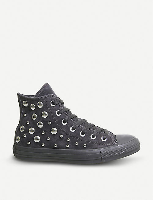 9749ae5c094037 CONVERSE All Star studded suede high-top trainers