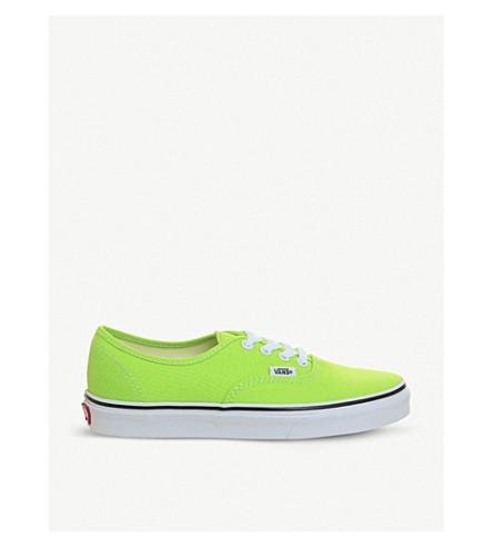 8b9282ba70fe VANS Authentic canvas sneakers (Jasmine+green