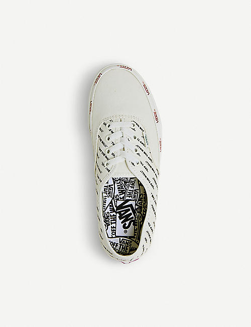 VANS Authentic logo print canvas trainers