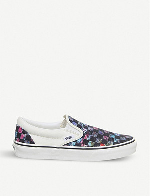 VANS Classic checkerboard-print panel canvas trainers