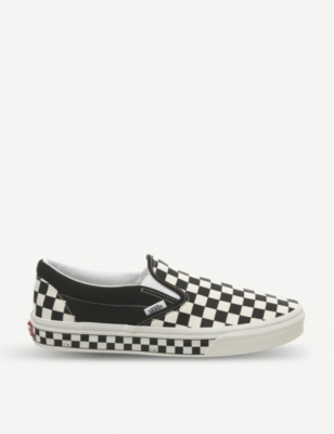VANS Classic checkerboard-print canvas trainers