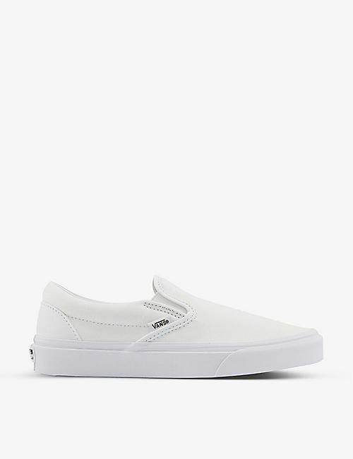 VANS: Classic slip-on canvas trainers