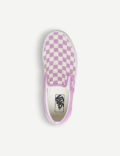 7879f87e87b VANS Classic checkerboard-print canvas trainers