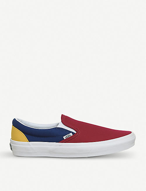 afc8b29383 VANS Classic colour-block canvas slip-on trainers