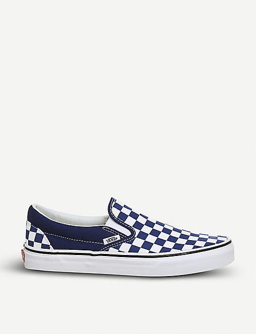 920d5efbd18275 VANS Classic checkerboard-print canvas skate shoes