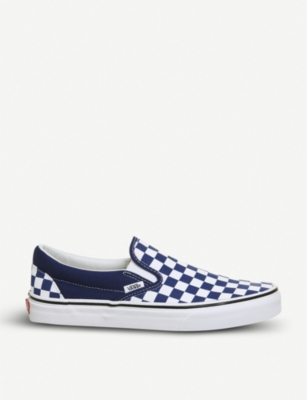 VANS Classic checkerboard-print canvas skate shoes