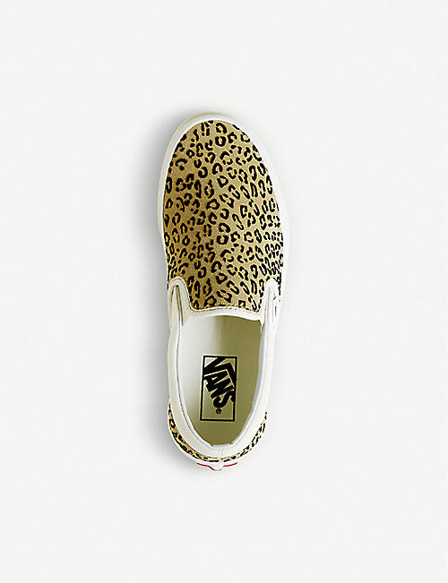 VANS Classic leopard print canvas slip-on trainers