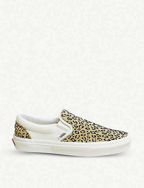 2ae4540b6d VANS - Classic leopard print canvas slip-on trainers