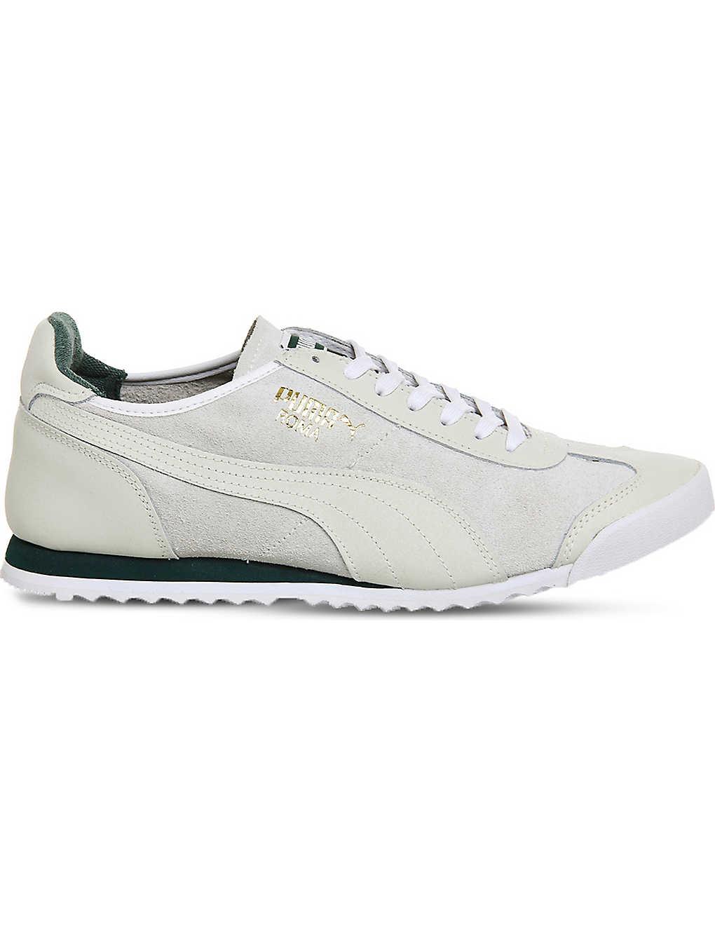 best website 81fb0 098e4 PUMA - Roma suede and leather trainers | Selfridges.com