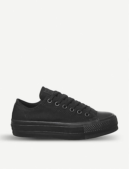 06494ae25f5a6c CONVERSE All Star Low Platform leather trainers