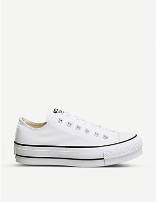 CONVERSE: All Star Low Platform canvas trainers