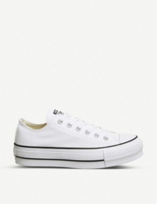 CONVERSE All Star Low Platform canvas trainers