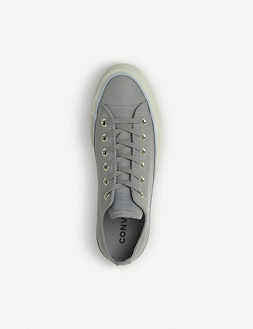 CONVERSE All Star Low Platform leather trainers