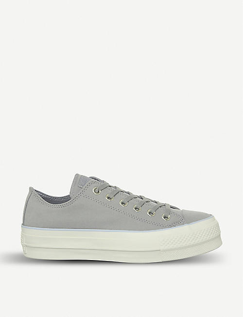 fc7e5ea7aacf CONVERSE All Star Low Platform leather trainers