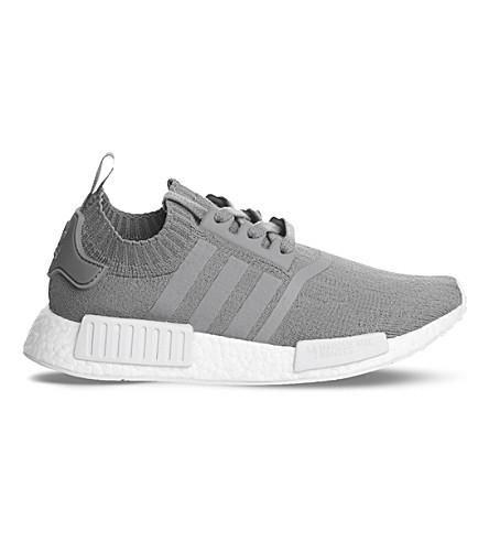 on sale 87608 c1ff6 ADIDAS NMD R1 Primeknit trainers (Grey+grey+white