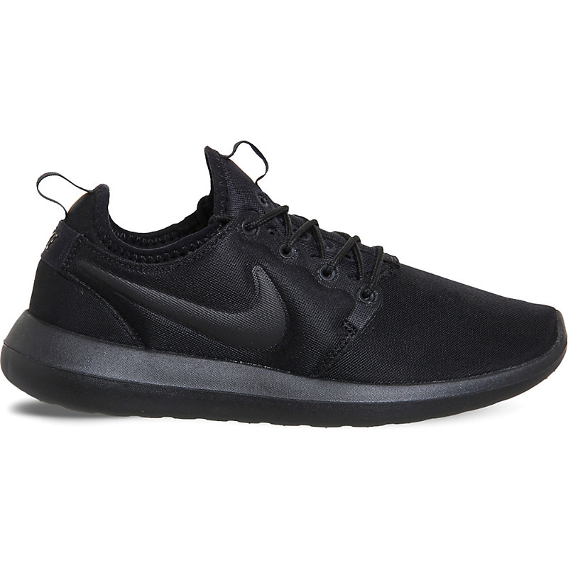 2271ee38353ec ... cheap nike roshe two mesh trainers black black 45271 341b4