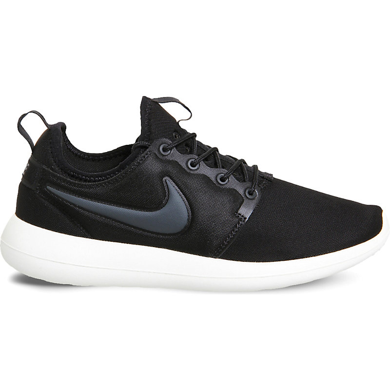 new york ee5f0 97625 Nike Roshe Two Mesh Trainers, Black Sail Volt
