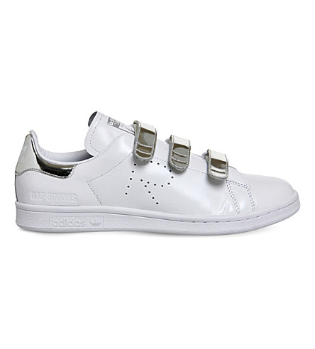 ff41b209c7a ADIDAS X RAF SIMONS Raf x Stan Smith CF leather trainers (White+metallic