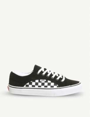 VANS Lampin checkerboard cord trainers